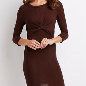 Charlotte Russe Dresses - Twist-Detailed Bodycon Dress
